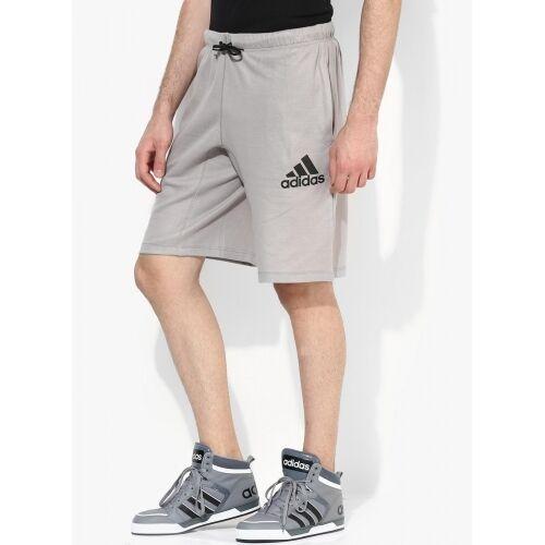 Grey Mens New Adidas Long Knee Length Shorts Cotton Pants Bottoms