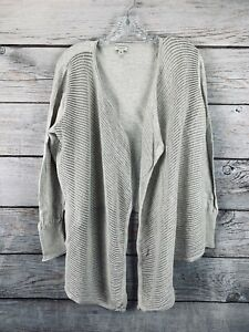 Details about Women's Sonoma Life & Style Natural Cardigan Sweater Thin Knit Lightweight Sz XL