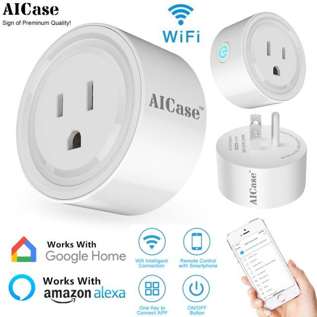 WIFI Smart Socket Timer Switch Power Outlet US Plug Remote Control Alexa/Google