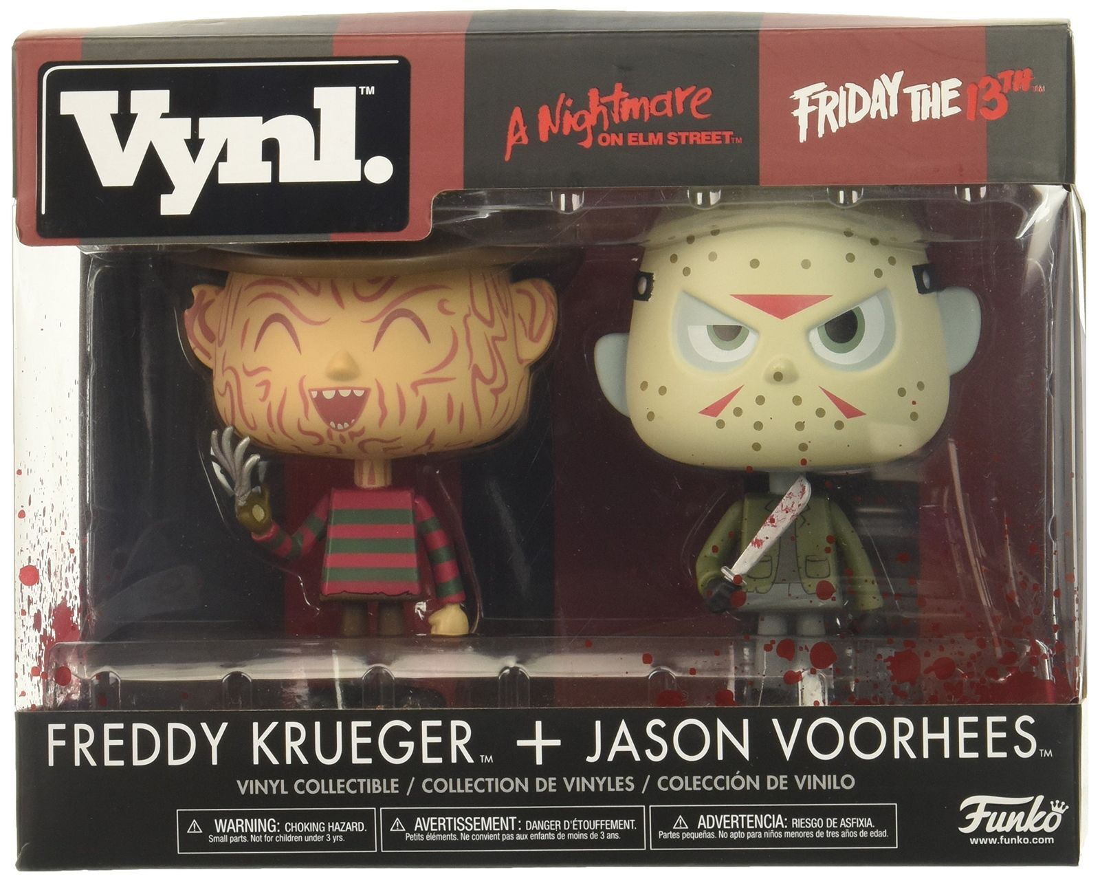 Funko Nightmare Frotdy Krueger and Friday The 13th Jason Voorhees Vinyl Figures