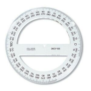 photograph about Printable Protractor 360 named Information and facts more than 180 360 Level Frame of mind Protractor Evaluate College Device Technological Drafting KohINoor