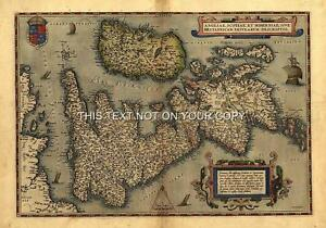 Large-A1-78x57-cm-Old-Ortelius-England-Scotland-Wales-Reproduction-Antique-Map