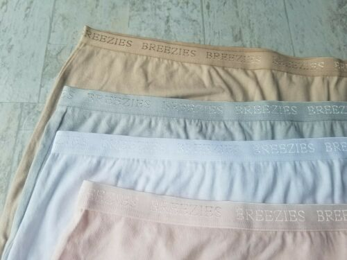 4 Breezies UltimAir Cotton Full Briefs Panties Size 9 Clothing Size 14 Natural
