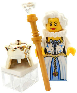 NEW LEGO QUEEN of ENGLAND MINIFIG castle figure minifigure royal crown princess