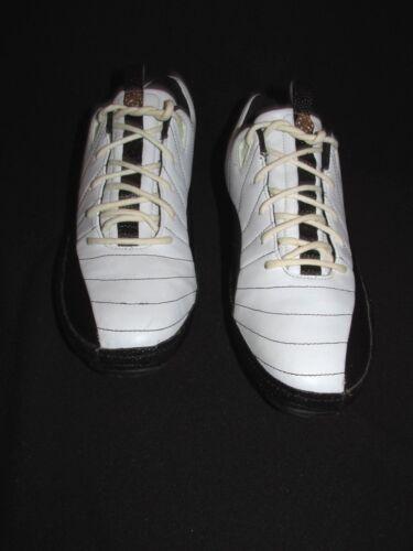 donna 5m Bianco da pelle Jordan Nero Scarpe Trainer Nike Us Prima Raro 6 Rosso in qwUnBAvxp