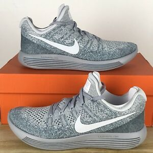a47c3a45dc48 Nike Lunarepic Low Flyknit 2 Platinum Grey Mens Running Shoes ...