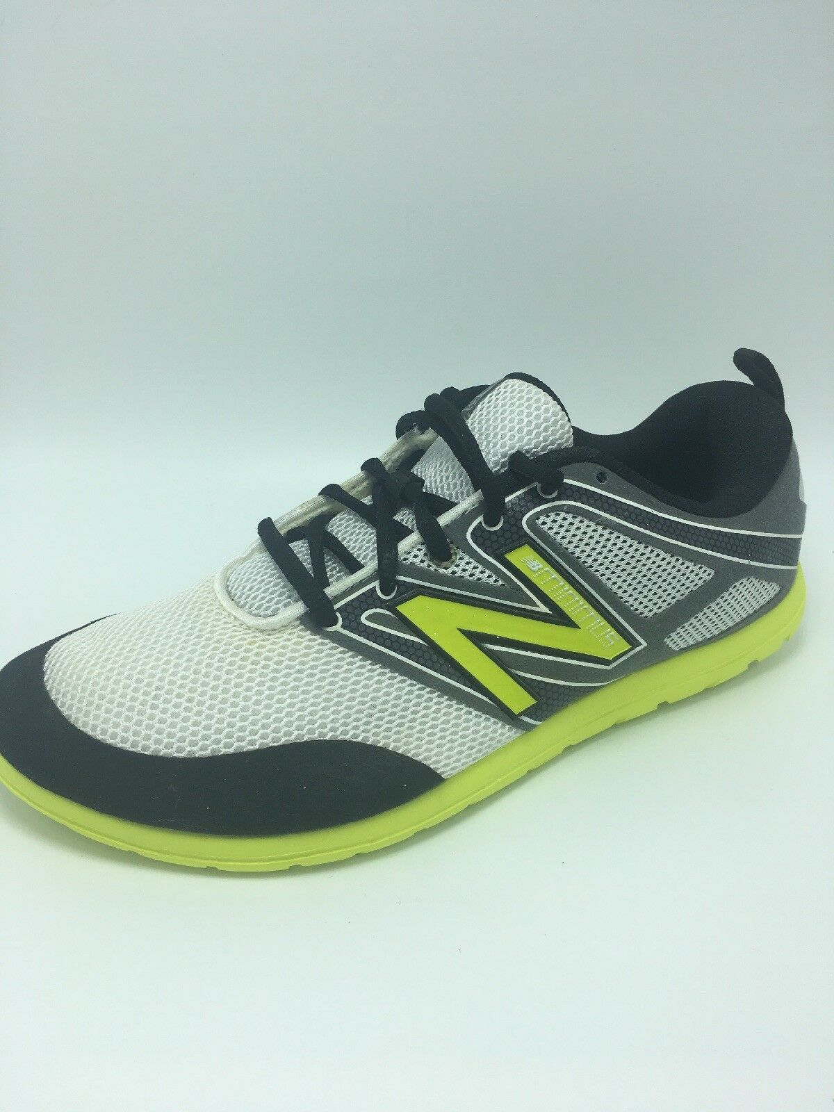 New Balance Men's Minimus Training Sneaker Black White Yellow 7 1 2, 7.5