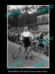 OLD LARGE HISTORIC CYCLING PHO...