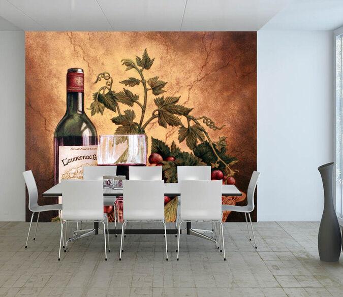 3D ROT Wine Drink 213563 Paper Wall Print Decal Wall Wall Murals AJ WALLPAPER GB