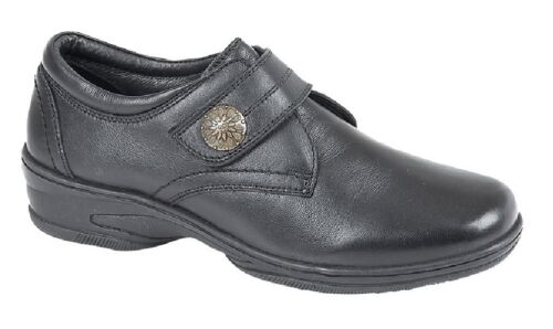 Mod Comfys L743A Touch Fasten Metal Trim Casual Nursing Leather Shoes