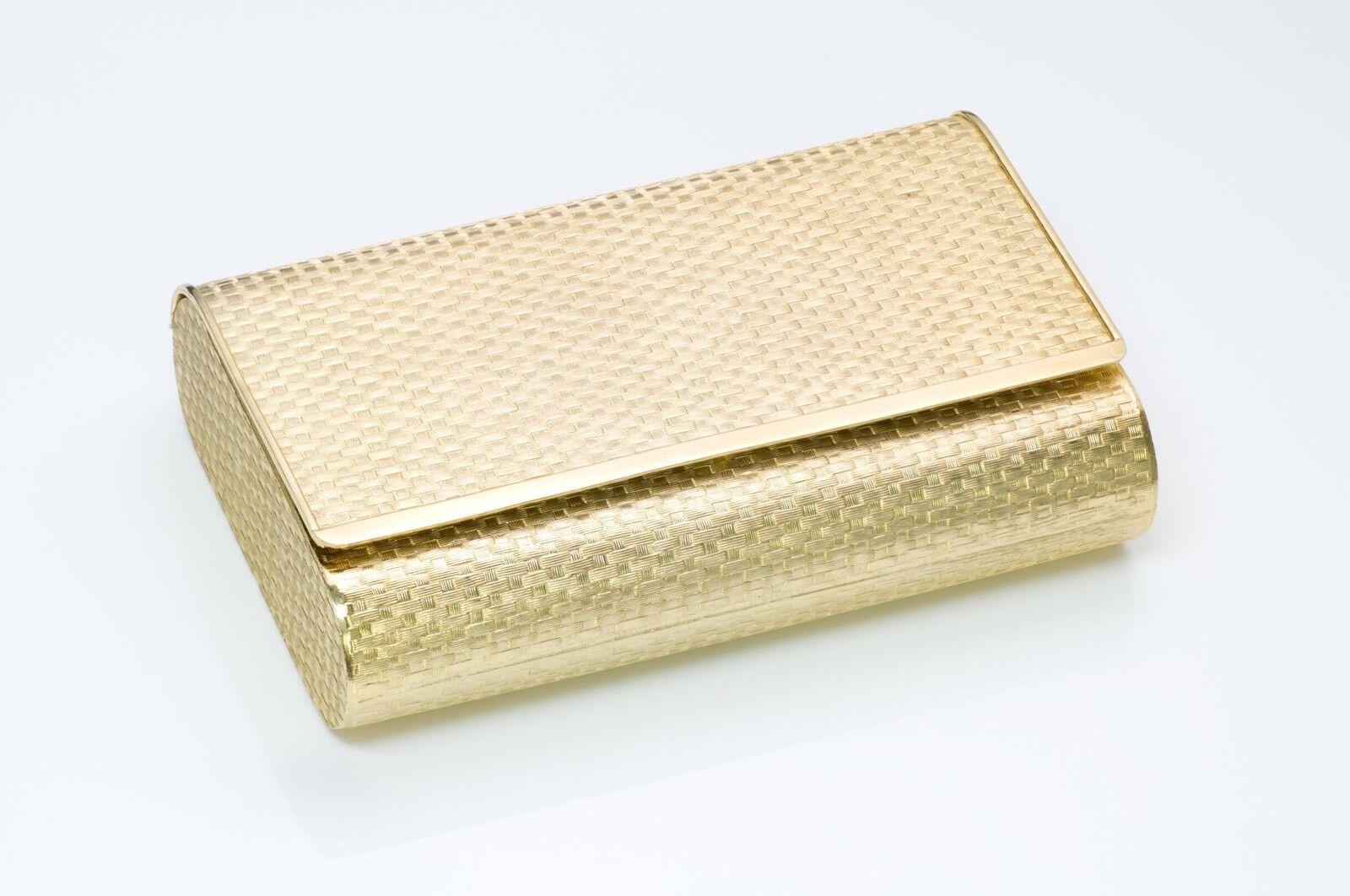 Lanvin 1970's Gold Tone Metal Clutch - image 1