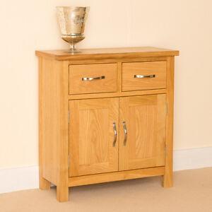 newlyn oak mini sideboard small oak cupboard light