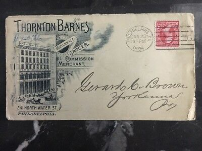 Usa 1894 Philadelphia Usa Gewerblicher Abdeckung Thornton Barnes Wholesale Briefmarken