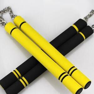Children Sponge Nunchakus Kung Fu Martial Foam Stainless Steel Chain Training