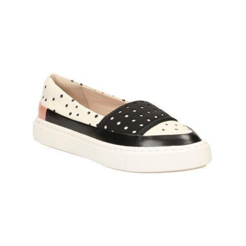 Clarks Leather ladies cute dotty print shoes flats pumps 7 41 D BNWB