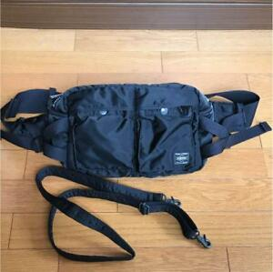 659c6dfd2d Porter 622-08302 Tanker 2 way Waist Bag Black Used from Japan F s