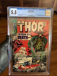 MARVEL-COMICS-THOR-150-CGC-5-5-OW-WH-PAGES-Hela-Appearance-MCU-Asgard-Loki
