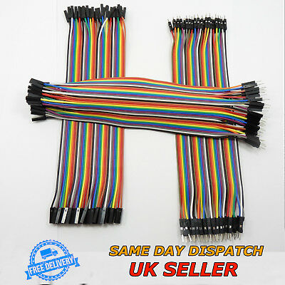 40 pcs Dupont Cables M-F M-M F-F Jumper Breadboard Wire GPIO Ribbon Pi Arduino