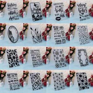 16 Designs Embossing Folders Template Diy Craft Scrapbook Paper Card