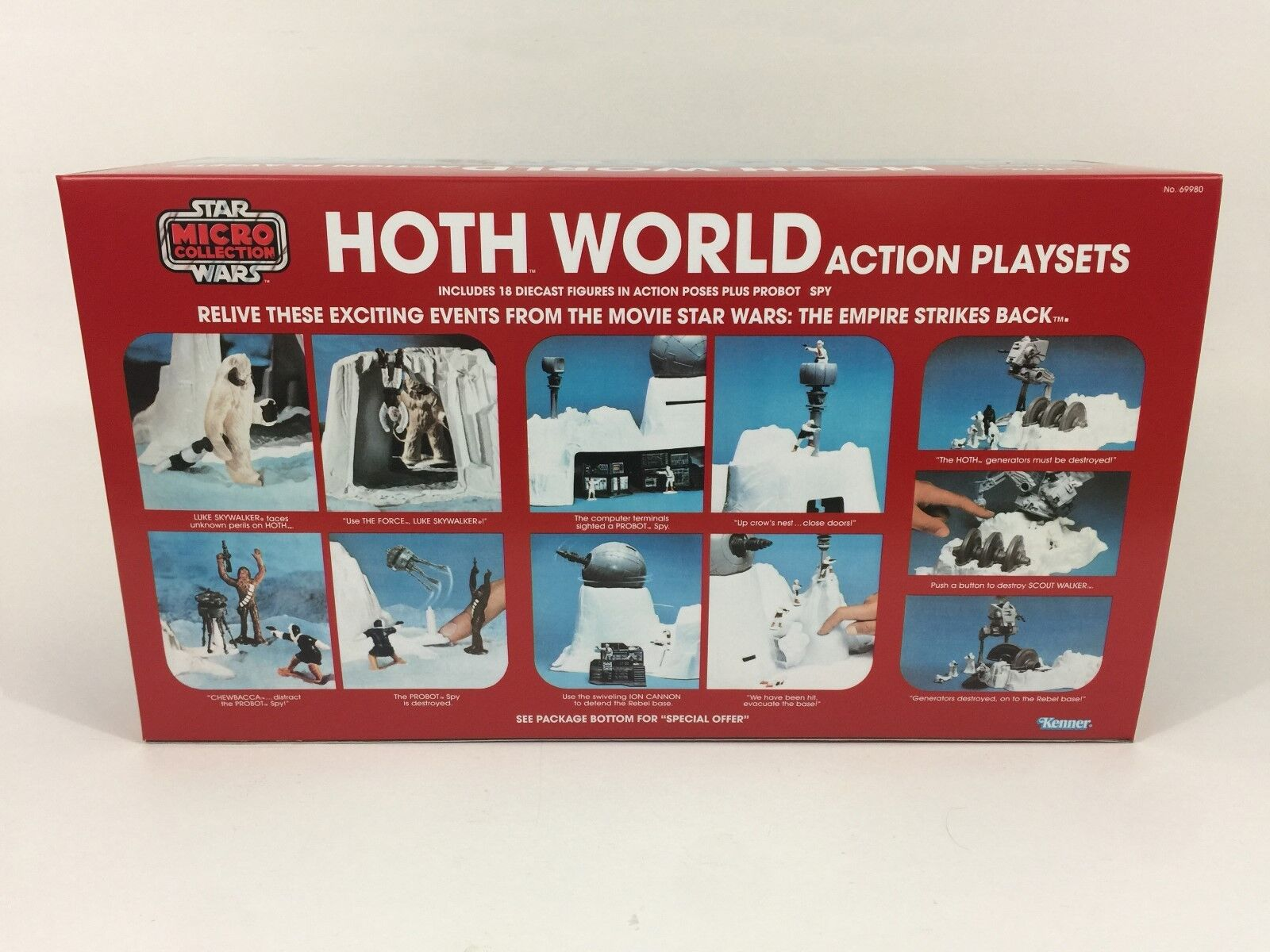 Replacement vintage star wars micro collection hoth world box box box + inserts 755ed6