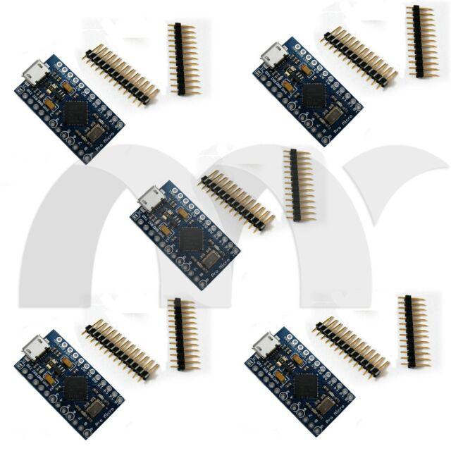 5 PCS Pro Micro Atmega 32U4-MU 5V 16MHz Board  Module For Arduino-Compatible