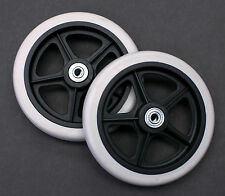 """Rollator Walker Replacement Parts 6"""" Wheel With Bearings C46 2 pcs NEW"""
