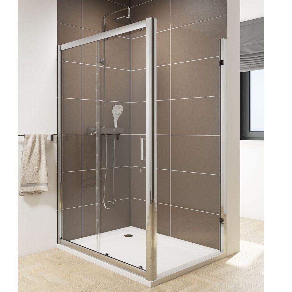 Caroni Sliding Shower Door Walk In Enclosure 1000-1700mm 6mm Glass Screen Slider