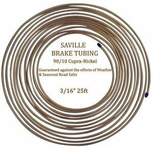 Saville 25ft Cupro Nickel Brake Pipes - 5 Rolls (CN316)