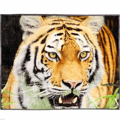 Faux Fur Throw double 3d animal utilisantun Print Mink canapé Bed Large Soft Fleece