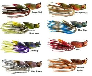 Livetarget-Hollow-Body-Crawfish-Jig-Assorted-Sizes-and-Colors