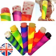 *UK Seller* 6X Colorful Silicone Ice Lolly Maker Push Up Popsicle Mould Lollies