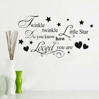 Cute Twinkle Twinkle Little Star Decal For Wall Decor Qu11