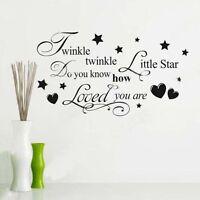 Cute Twinkle Twinkle Little Star Decal For Wall Decor Qu11