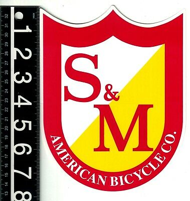 S/&M BICYCLE COMPANY BMX DECAL Cycling BMX 2.5 in x 2 in White Bike Decal