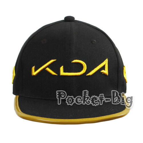 LOL KDA Cosplay Akali Girl Boy Black Hat baseball Cap Purple Cosplay Accessories
