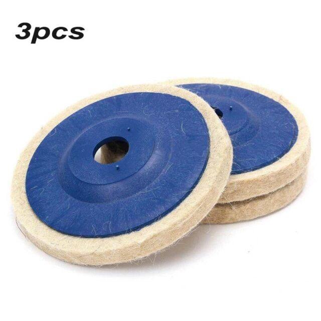 100mm Wool Buffing Polishing-Wheel Felt Pad 4In For Angle Grinder Buffer Disc