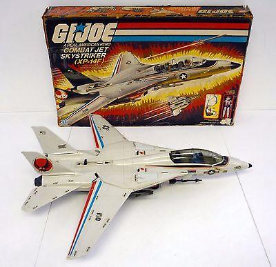 GI JOE SKYSTRIKER XP-14F Vintage Action Figure Vehicle Jet COMPLETE w/BOX 1983