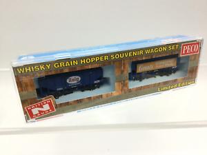 Peco NR-P503 N Gauge Bulk Grain Whisky Wagon Set Grant/'s and Haig