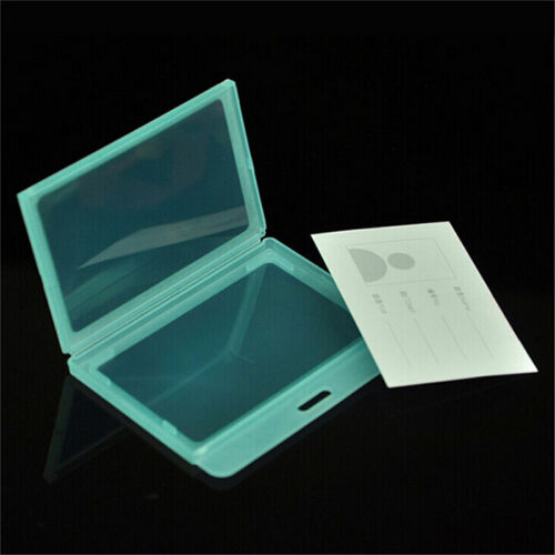 1ID Card Holder Transparent Plastic Badge Resealable Waterproof Business Case CA