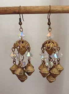 Handmade, Artisan, Vintage Chandelier Crystal Earrings by the Sassy Trashionista