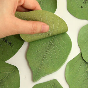 Green-leaves-Note-Paper-Creative-Notebook-Marker-Sticker-Memo-Pad-Sticky-Notes