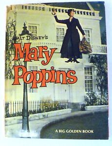 Mary-Poppins-1964-Hardcover-Book-Walt-Disney-Big-Golden-Book