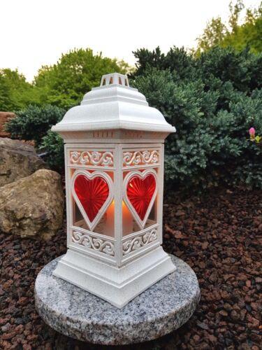 Sépulture Incl Granit socle sépulture Lampe Pour Tombe Granit sépulture Bougie Coeur