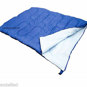 Warm-Double-Sleeping-Bag-for-Camping-Caravan-and-Travel-With-Storage-Bag-New