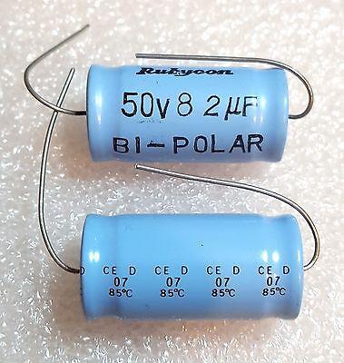 Audio Tone 5pcs Rubycon 50V 82uF Bi-Polar Axial Electrolytic Capacitor ~0 ESR