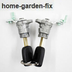 De S About New Set Left Right Door Lock Cylinder For Honda Crv Cr V Element