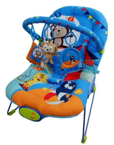Baby Rocker Bouncer Reclining Vibrating Chair Soothing Music Vibration Toys UK