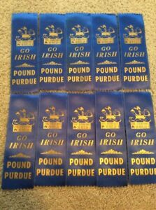 10-VINTAGE-NOTRE-DAME-FOOTBALL-GO-IRISH-POUND-PURDUE-GAMEDAY-RIBBONS