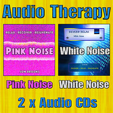 2 CDs White Noise and Pink Noise Audio Therapy for Sleep and Background Noise