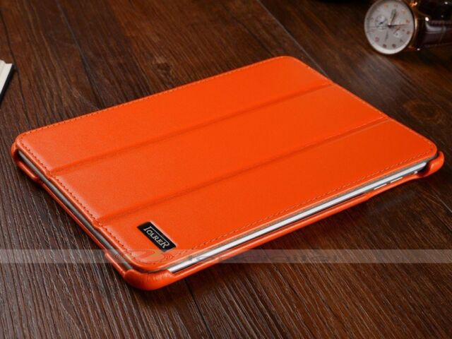 iCarer Luxury Genuine Leather Stand Smart Cover Case For Apple iPad mini / 2 / 3